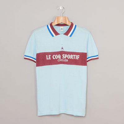Le Coq Sportif Tholon vintage-style cycling jersey