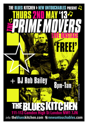The Prime Movers reform – playing live at The Blues Kitchen in London