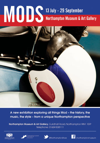 Upcoming Mods exhibition in Northampton