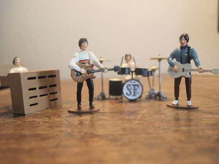 George Doswell-designed Small Faces miniature figures - as seen on Stanley Road album