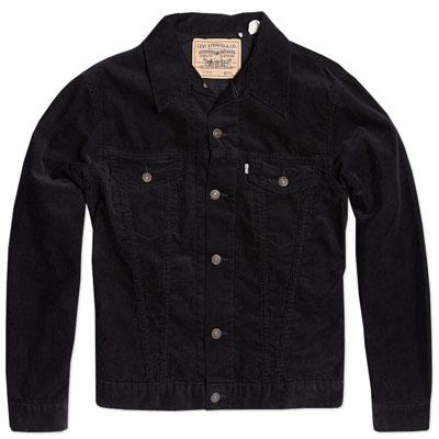 Levi's Vintage 1967 black cord Type III trucker jacket