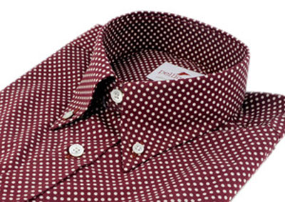 Slim-fit floral and polka dot button-downs at Pellicano