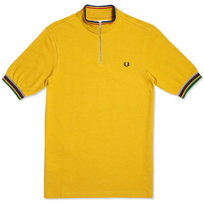 Fred Perry Bradley Wiggins Champion Tipped Cycling Shirt