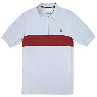 Fred Perry Bradley Wiggins Contrast Panel Cycling Shirt