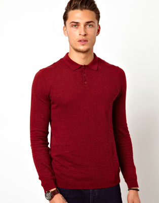 ASOS long-sleeved polo shirts