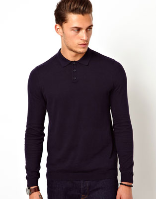 ASOS long-sleeved polo shirts