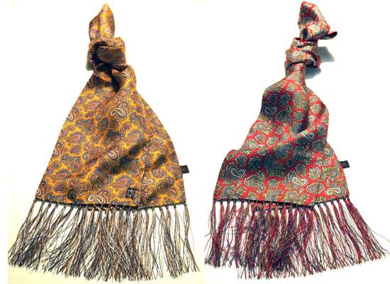 Peckham Rye Victorian paisley silk scarves