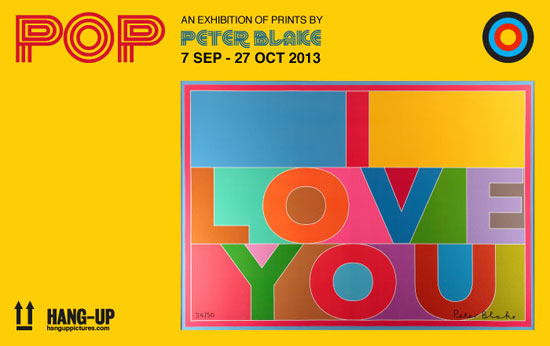Pop - an exhibition of prints by Sir Peter Blake in London