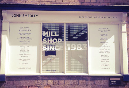 Dates announced for upcoming John Smedley Mill Sale clearance