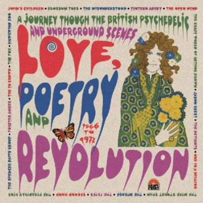 Love, Poetry and Revolution British psychedelia box set on Cherry Red