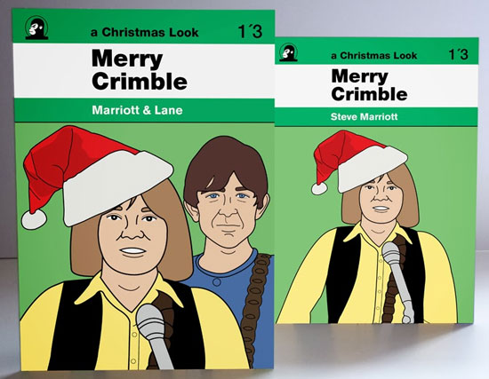 Small Faces Christmas card packs by Piper Gates Design