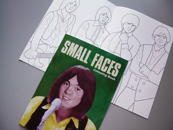 Limited edition Small Faces colouring book by Piper Gates Design