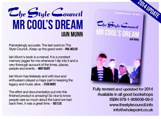 Coming soon: The Style Council: Mr Cool's Dream by Iain Munn updated for 2014