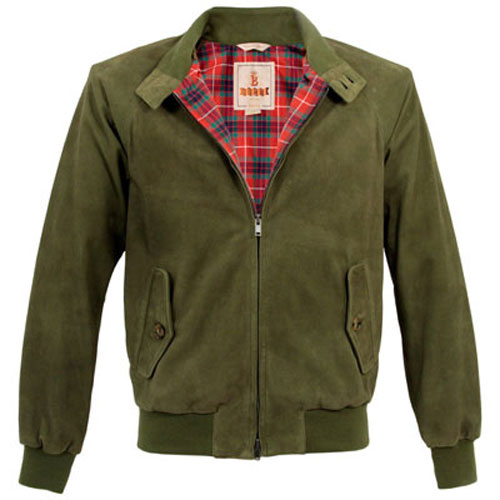 Baracuta G9 Harrington Jacket gets a premium suede issue for spring