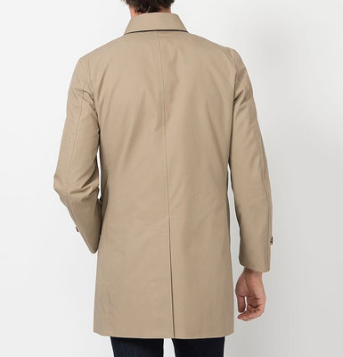 Harry Palmer-style: Single-breasted coat at Uniqlo