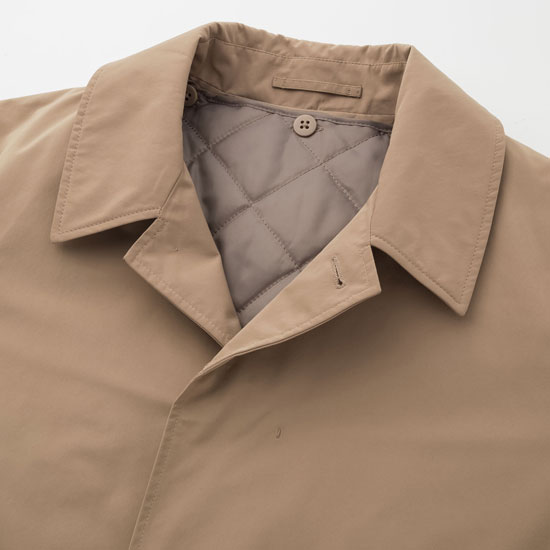 Harry Palmer-style: Single-breasted raincoat at Uniqlo
