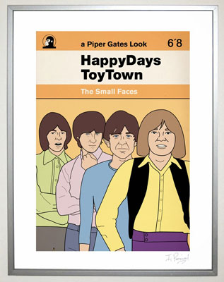 Small Faces poster and birthday card by Piper Gates Design