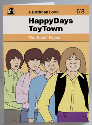 Small Faces birthday card by Piper Gates Design