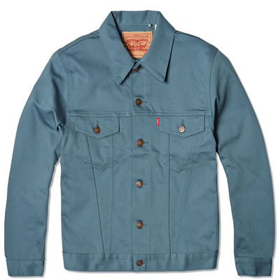 1960s Levi's Vintage Type III Trucker Jacket in blue Bedford cotton