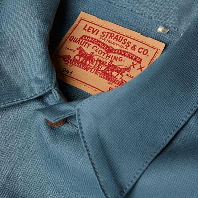 1960s Levi's Vintage Type III Trucker Jacket in blue Bedford cotton