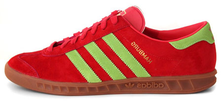 Red and green reissue of Adidas Hamburg City Series trainers incoming