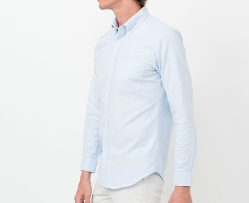 Mod on a budget: Uniqlo slim-fit Oxford shirts