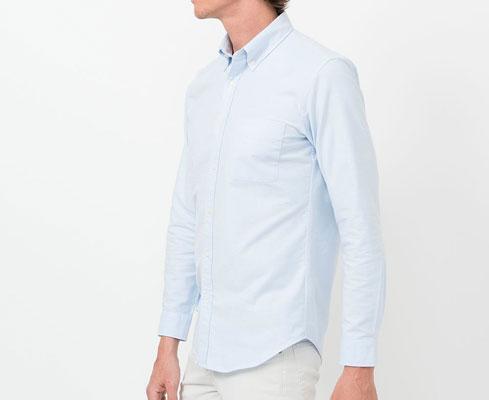 Uniqlo slim-fit Oxford shirts