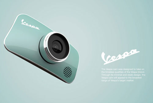 Vespa-inspired digital camera