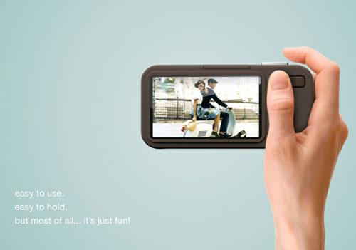 Vespa-inspired digital camera