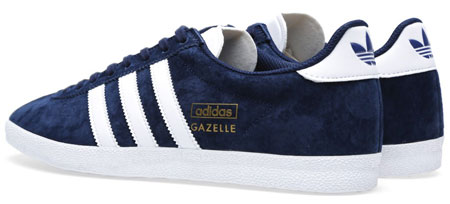 Adidas Gazelle OG trainers reissued in navy blue suede