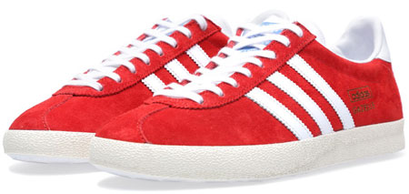Adidas Gazelle OG trainers – red and brown suede reissues