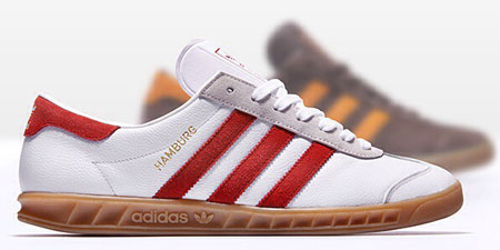 Adidas Hamburg City Series trainers reissued in white leather and brown suede