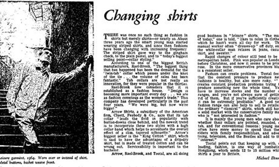 The Guardian reprints Changing Shirts article from 1964