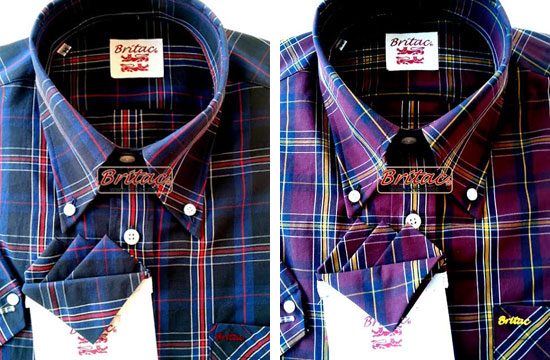 Britac short-sleeve button-down shirts - six new designs
