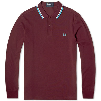 Fred Perry long-sleeved twin tipped polo shirts - three new colours