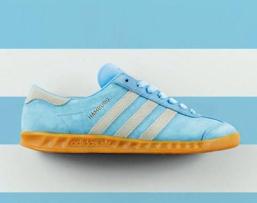 Adidas Hamburg trainers reissued in frost blue as a Size? exclusive