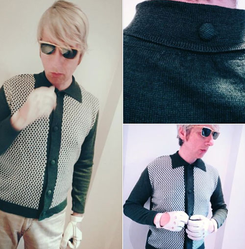 Verve 1960s-style button-through top by Connection Knitwear