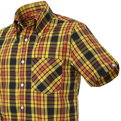 New Mikkel Rude window pane check button-down shirts now available