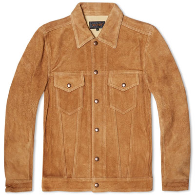 1960s-style Beams Plus Suede Type I Trucker Jacket