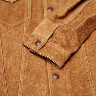 1960s-style Beams Plus Suede Type I Trucker Jacket