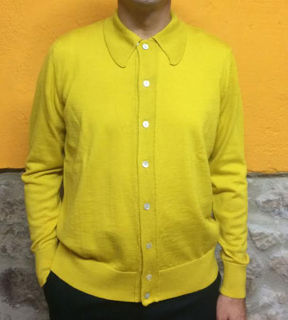 Limited edition merino wool buttoned knits from DNA Groove