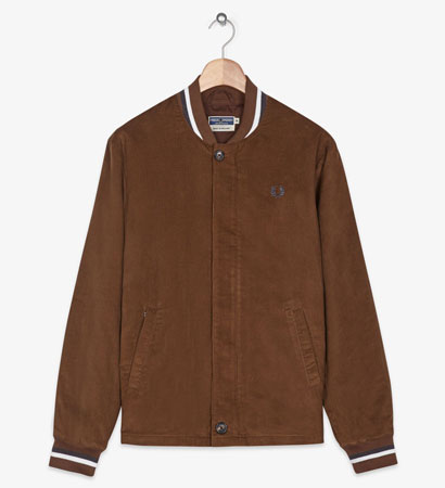 Fred Perry 1960s-style cord bomber jacket