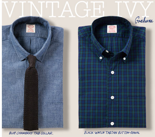 Graham Marsh-designed Vintage Ivy Collection shirts at Kamakura