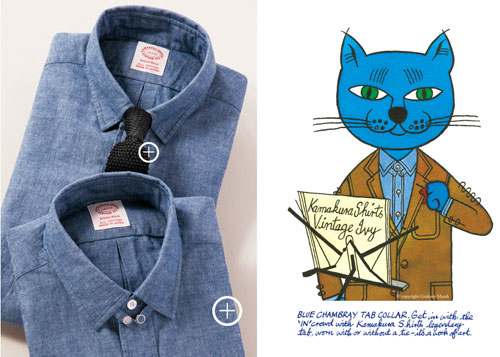 Graham Marsh-designed Vintage Ivy Collection shirts at Kamakura
