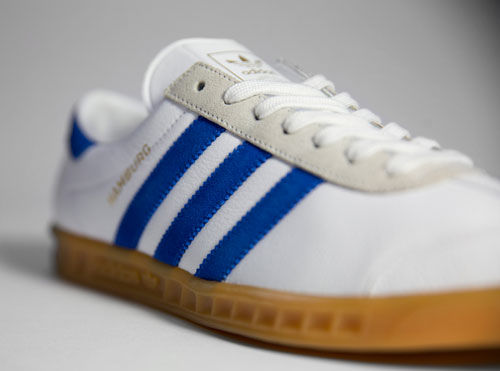Adidas Hamburg trainers reissued in white and royal blue
