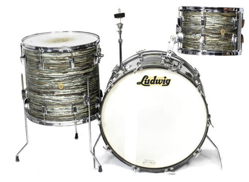 Keith Moon's 1964 Ludwig drum kit going up for auction at Bonhams in London