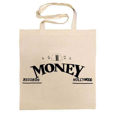 Vintage record label cotton bags at Ace Records