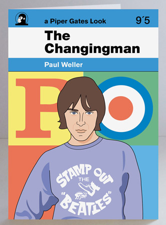 Limited edition Paul Weller The Changingman print and greetings card by Piper Gates Design