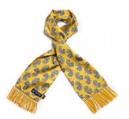 Vintage-style paisley silk scarves by Knightsbridge