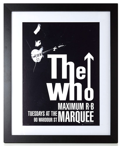 Back in stock: The Who Maximum R&B at the Marquee framed print at BHS